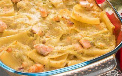 Gratin de Pâtes au Saumon et Courgettes
