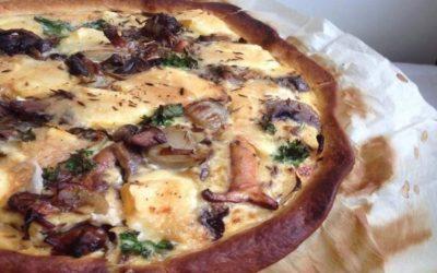 Tarte aux Reblochon, Champignons & Oignons