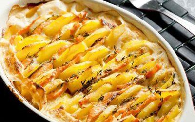 Gratin au Saumon et Pommes de terre